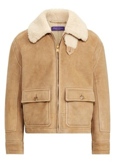Ralph Lauren Beedon Shearling Bomber Jacket