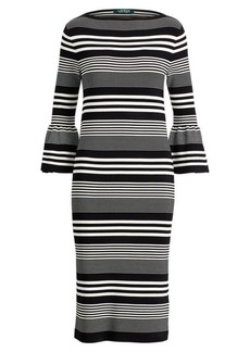 Ralph Lauren Bell-Sleeve Sweater Dress