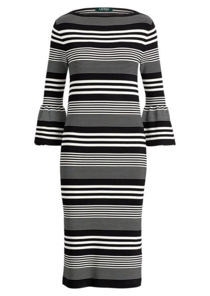 Ralph Lauren Bell-Sleeve Sweater Dress