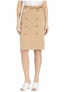 Ralph Lauren Belted Cotton Twill Skirt