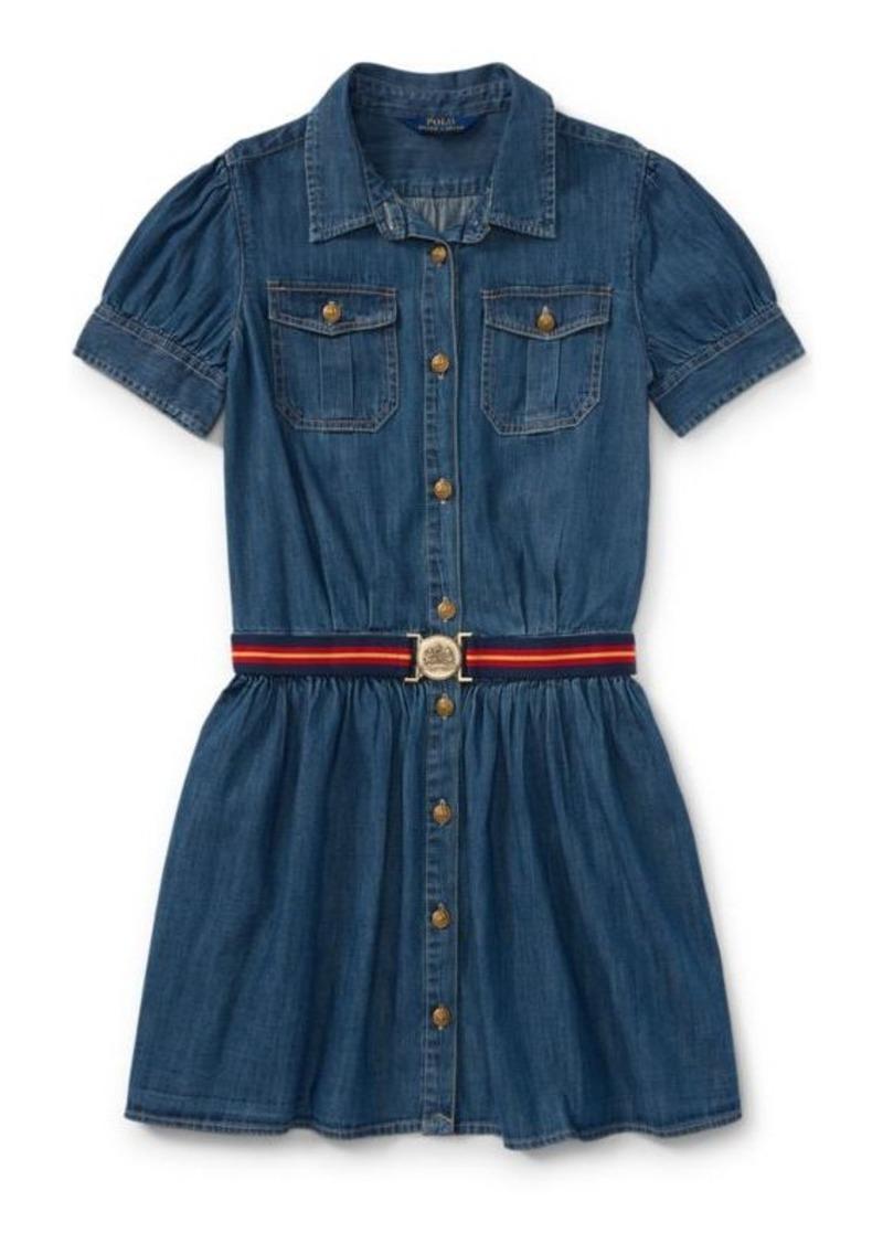 Ralph Lauren Belted Denim Shirtdress Dresses