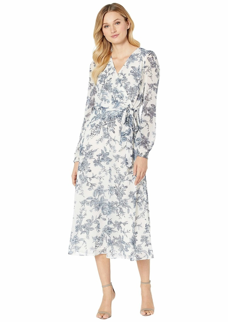 Ralph Lauren Belted Floral Georgette Dress