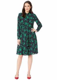 Ralph Lauren Belted Georgette Shirtdress