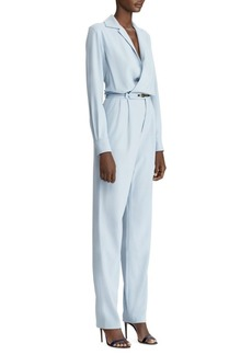 Ralph Lauren Belted Long Sleeve Jumpsuit