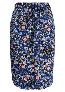 Ralph Lauren Belted Print Twill Skirt