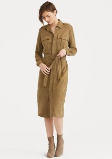 Ralph Lauren Belted Suede Shirtdress