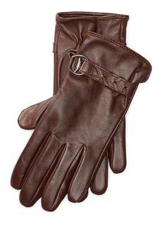 Ralph Lauren Belted Tech Leather Gloves