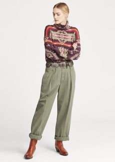 Ralph Lauren Belted Twill Straight Pant