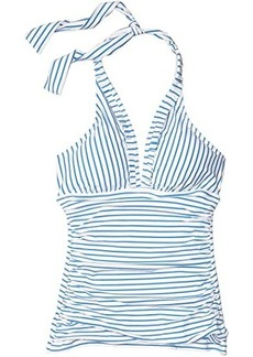 Ralph Lauren Bengal Stripe Halter Tankini Swimsuit Top