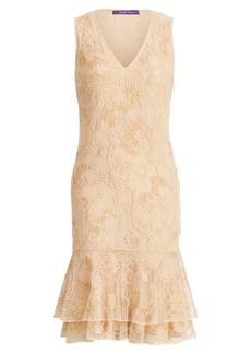 Ralph Lauren Bianca Embroidered Tulle Dress