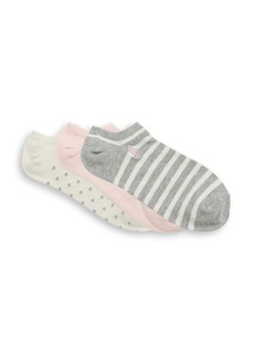 Ralph Lauren Big Girl's Three-Pack Striped Dot Socks