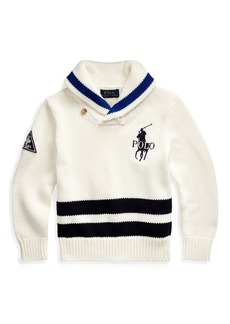 Ralph Lauren Big Pony Cotton Shawl Sweater