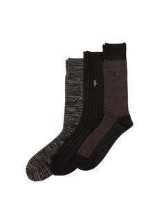 Ralph Lauren Birdseye Trouser Sock 3-Pack