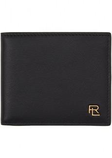 Ralph Lauren Black Metal Plaque Bifold Wallet
