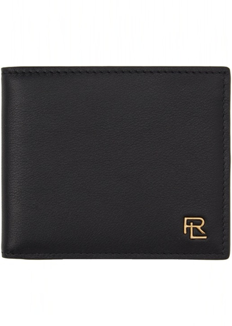 Ralph Lauren Black Metal Plaque Bifold Wallet