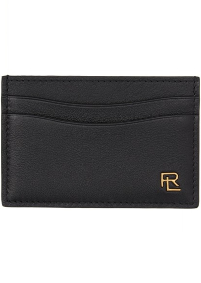 Ralph Lauren Black Metal Plaque Card Holder