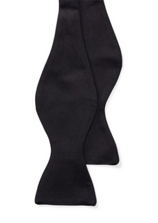 Ralph Lauren Black Silk Satin Bow Tie