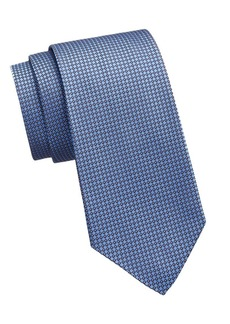 Ralph Lauren Blue Bond Silk Geometric Tie