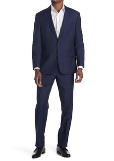 Ralph Lauren Blue Pinstripe Two Button Notch Lapel Suit