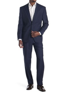 Ralph Lauren Blue Windowpane Two Button Notch Lapel Wool Suit