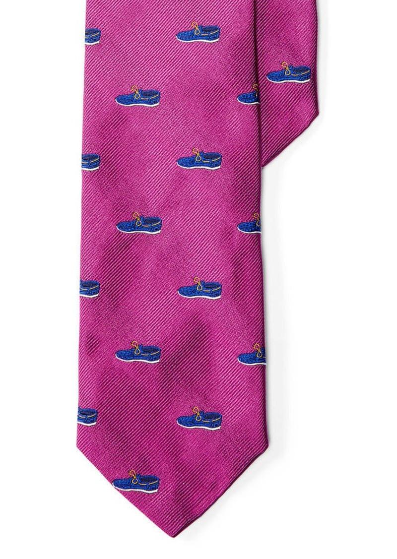 Ralph Lauren Boat Shoe Silk Club Tie