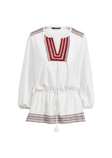 Ralph Lauren Bohemian Embroidered Blouse
