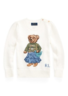 Ralph Lauren Santa Fe Bear Cotton Sweater