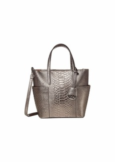 Ralph Lauren Bold Python Embossed Carlyle 20 Tote Mini
