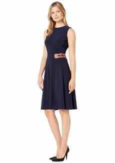 Ralph Lauren Bonded Matte Jersey Chellis Sleeveless Day Dress