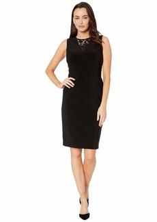 Ralph Lauren Bonded Matte Jersey-Dress w/ Combo