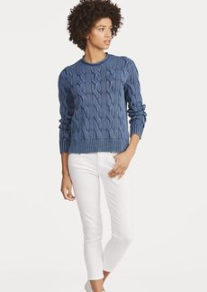 Ralph Lauren Boxy Cable Cotton Sweater