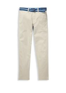 Ralph Lauren Boy's Belted Chinos