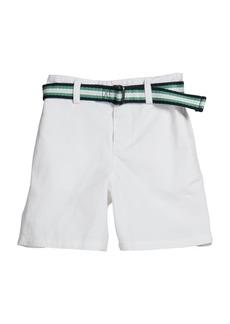 Ralph Lauren Boy's Belted Stretch Cotton Shorts, Size 9-24M