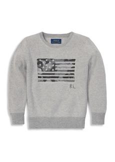 Ralph Lauren Boy's Camo Flag Cable-Knit Sweater