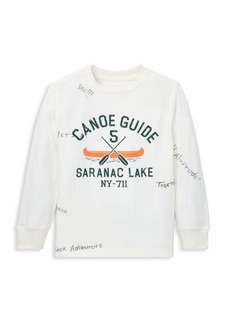 Ralph Lauren Boy's Canoe Guide Graphic Long-Sleeve Tee