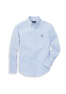 Ralph Lauren Boy's Checkered Cotton Button-Down Shirt