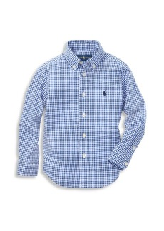 Ralph Lauren Boy's Gingham Cotton Poplin Button-Down Shirt