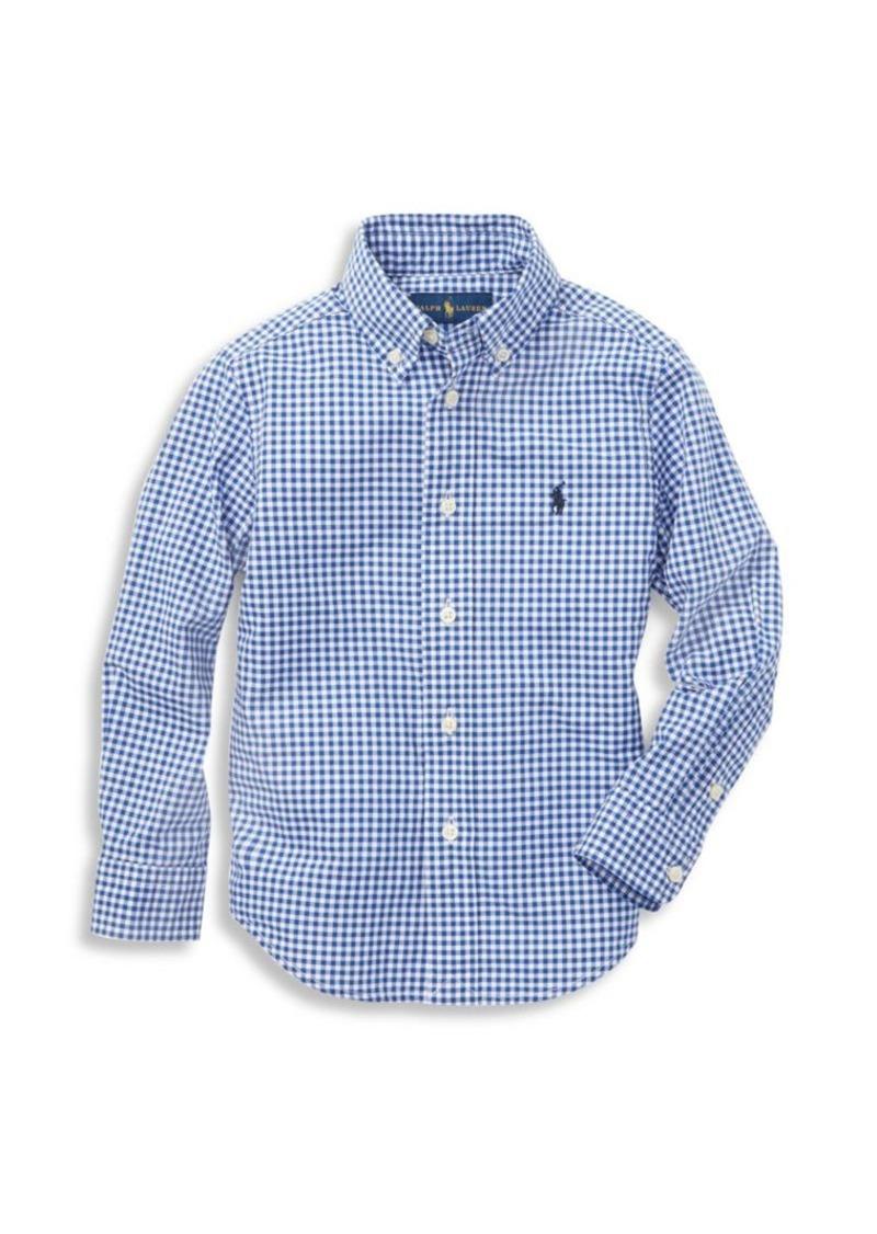 Ralph Lauren Little Boy's & Boy's Gingham Check Shirt