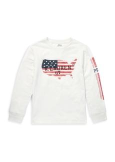 Ralph Lauren Boy's Graphic US Flag Cotton Tee