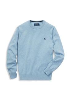 Ralph Lauren Boy's Long-Sleeve Knit Crewneck Sweater