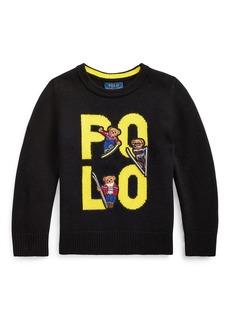 Ralph Lauren Boy's Merino Wool Logo Sweater  Size 5-7
