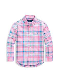 Ralph Lauren Boy's Plaid Button-Down Shirt