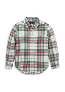Ralph Lauren Boy's Plaid Cotton Button-Down Shirt
