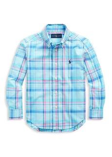 Ralph Lauren Boy's Plaid Cotton Shirt