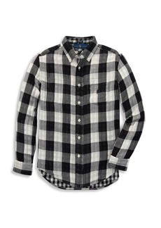 Ralph Lauren Little Boy's & Boy's Reversible Plaid Cotton Button-Down Shirt