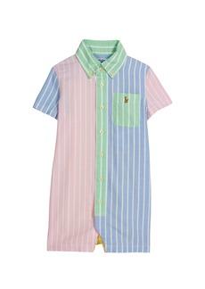 Ralph Lauren Boy's Striped Oxford Button-Down Shortall, Size 6-24M