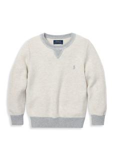 Ralph Lauren Boy's Textured Knit Crewneck Sweater