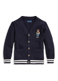 Ralph Lauren Boy's Polo Bear V-neck Cardigan