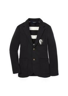 Ralph Lauren Brass-Button Fleece Sport Coat