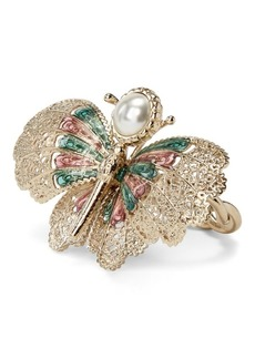 Ralph Lauren Brass-Enamel Butterfly Ring